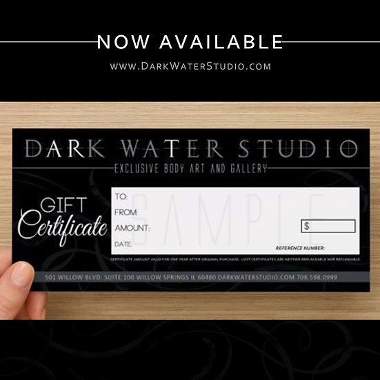 Dark Water Studio Gift Certificate