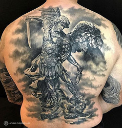 Healed St. Michael Back piece