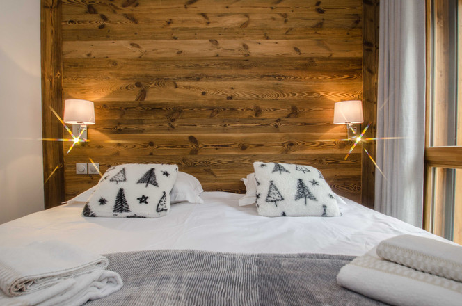 intérieur chambre 2 pièces Chamonix- photographe immobilier
