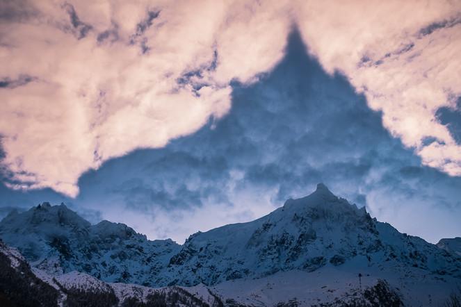 Twilight Chamonix- Aiguille du midi