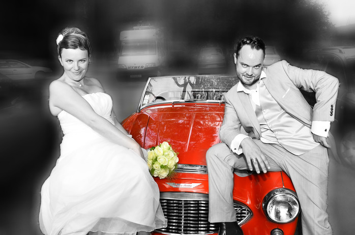 Portrait funky mariés - Tours