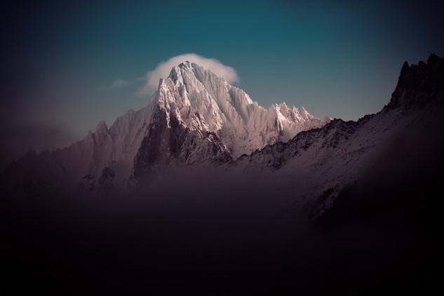 Sunrise Aiguille verte Chamonix