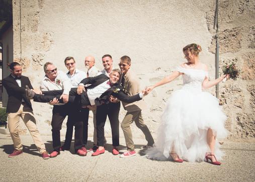 séance photo groupe mariage