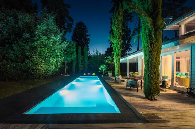 villa piscine bord du lac léman- photographe immobilier