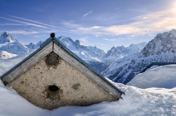 photographe outdoor - chalets de la Loriaz en hiver Chamonix