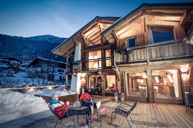 chalet Pink les Houches - photographe immobilier