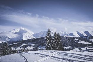 Vue Mont Blanc - domaine skiable Combloux