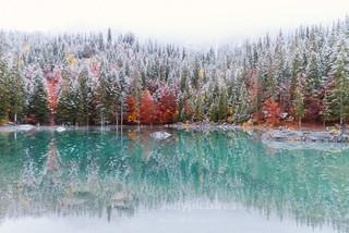 photographe outdoor - lac vert Passy Haute Savoie