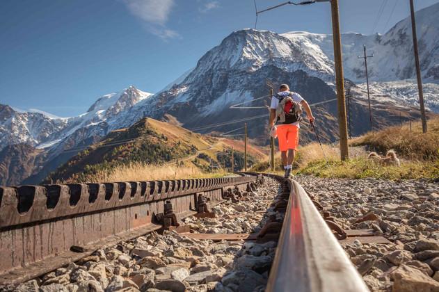 Sur les rails du Tramway du Mont Blanc