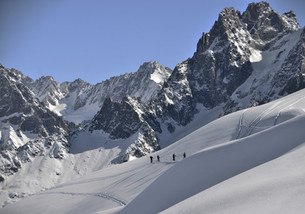 photographe outdoor - ski de randonnée Chamonix