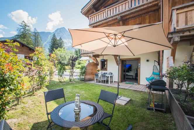 photo immobiliere extérieur térrasse Chamonix