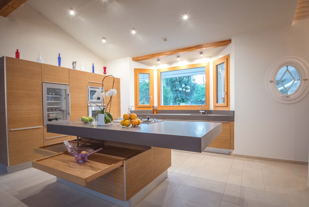 intérieur cuisine - villa lac léman -photographe immobilier