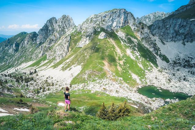 photographie outdoor - randonnée haute savoie -lac d'arbon