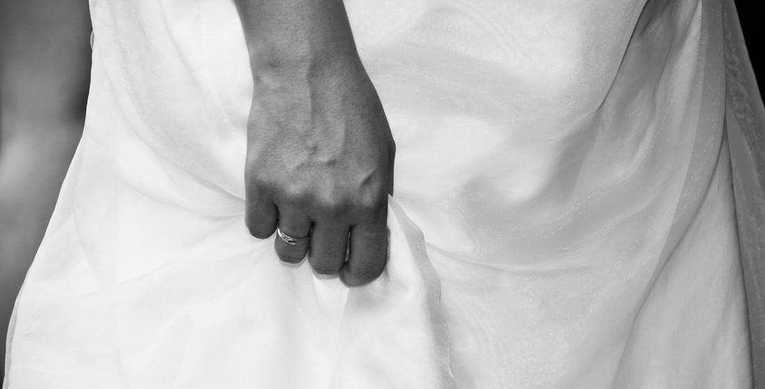 Détail bague de la mariée - Tours