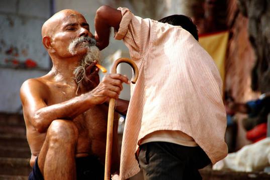 scène de vie Varanasi Inde