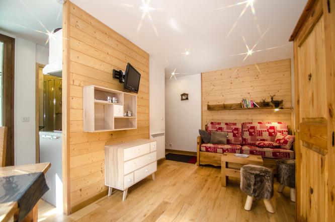 intérieur séjour 2 pièces Chamonix- photographe immobilier