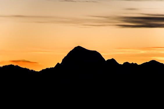 Photographe montagne- coucher de soleil sur le Charvin