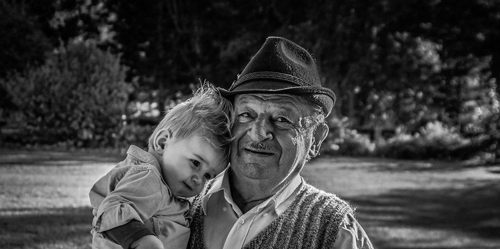 photo portrait de famille noir et blanc