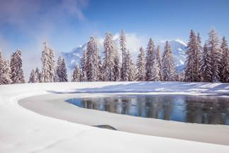 photographe outdoor - vue domaine skiable Saint Gervais Haute Savoie
