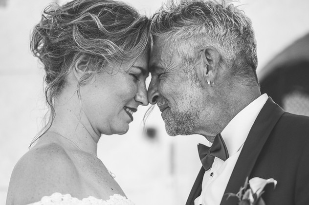 portraits visages mariés