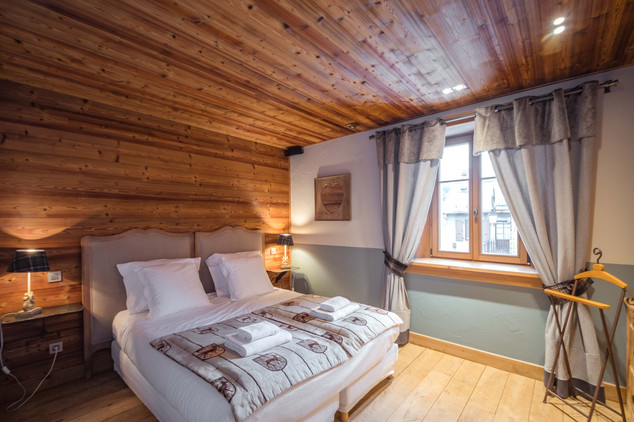 chambre chalet de montagne- photographe immobilier