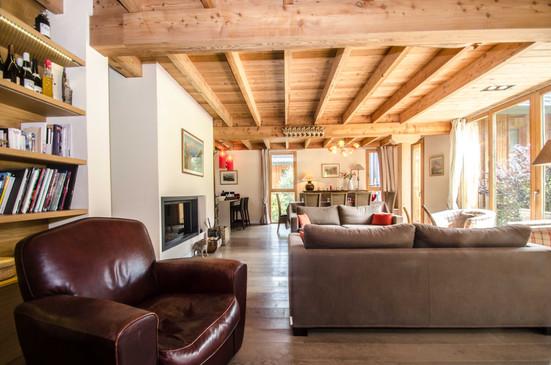 intérieur chalet les Houches- photographe immobilier
