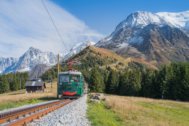 photographe outdoor - tramway du Mont Blanc