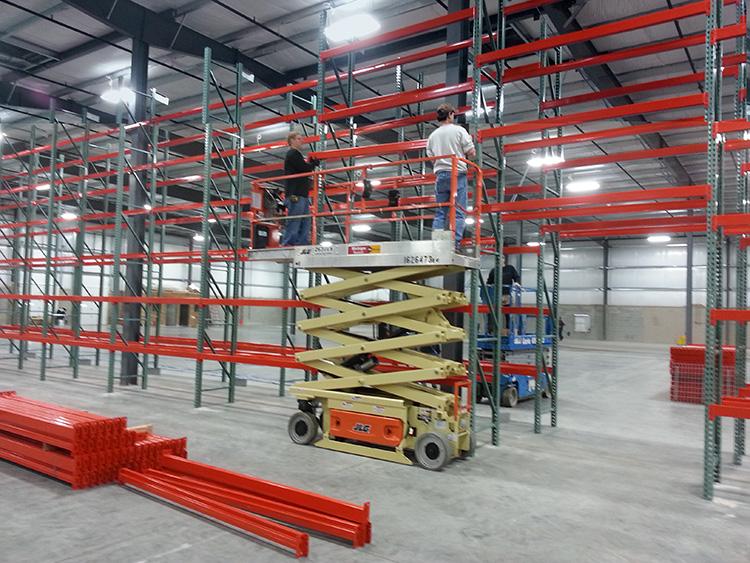 Pallet Rack Install