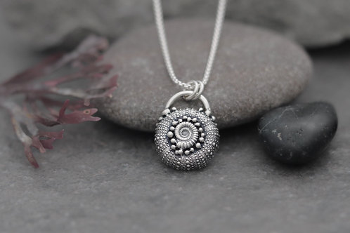 Sea Urchin and Ammonite necklace