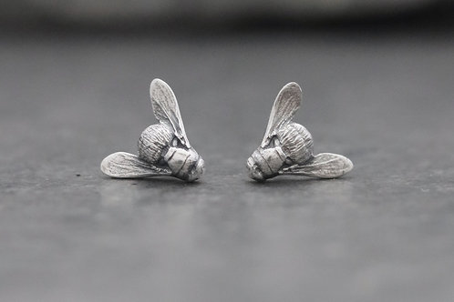 House Fly Stud Earrings