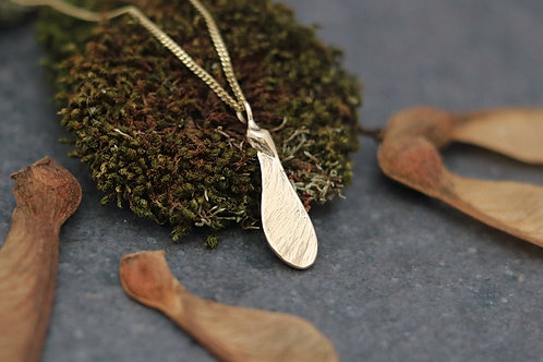 9ct Gold Sycamore Seed Pendant