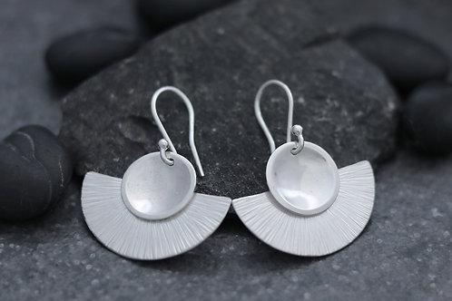 Deco Fan and Cup Dangle Earrings