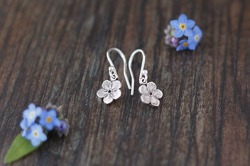 Forget-me-not Dangle Earrings