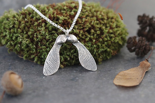 Double Sycamore Seed Pendant