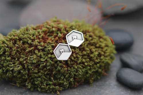 Colmers Hill Hexagon Stud Earrings
