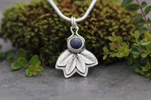 Lapis Lazuli Leaf Necklace