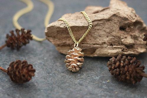 9ct Gold Alder Cone Pendant