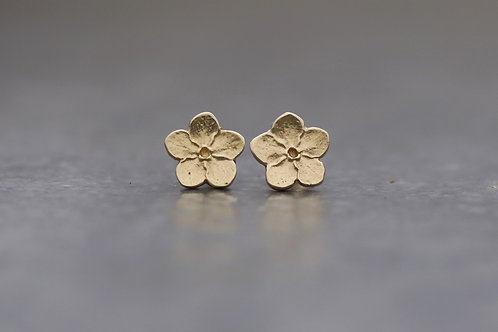 9ct Gold Forget-me-not Stud Earrings