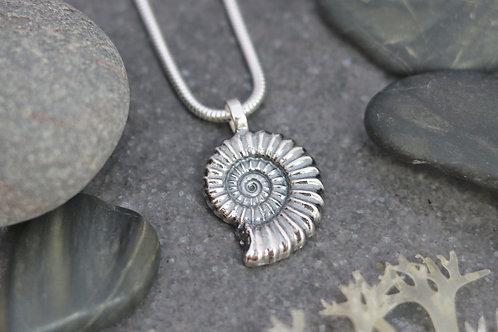 Large Ammonite Fossil Pendant