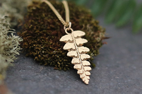 9ct Gold Fern Necklace