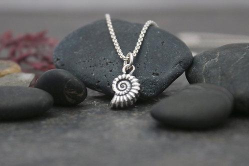 Ammonite Fossil Pendant 3D