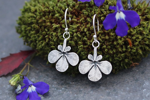 Lobelia Flower Dangle Earrings