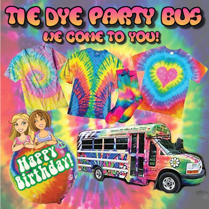 Tie Dye Party Bus