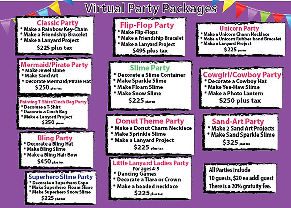 Virtual Birthday Parties Slime parties