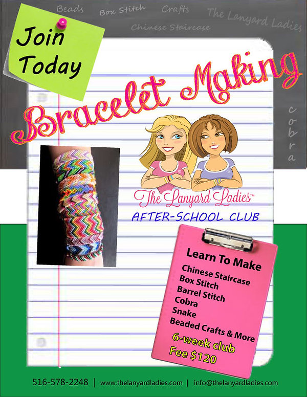 The Lanyard Ladies After-School Friendship Bracelet & Lanyard Making Club