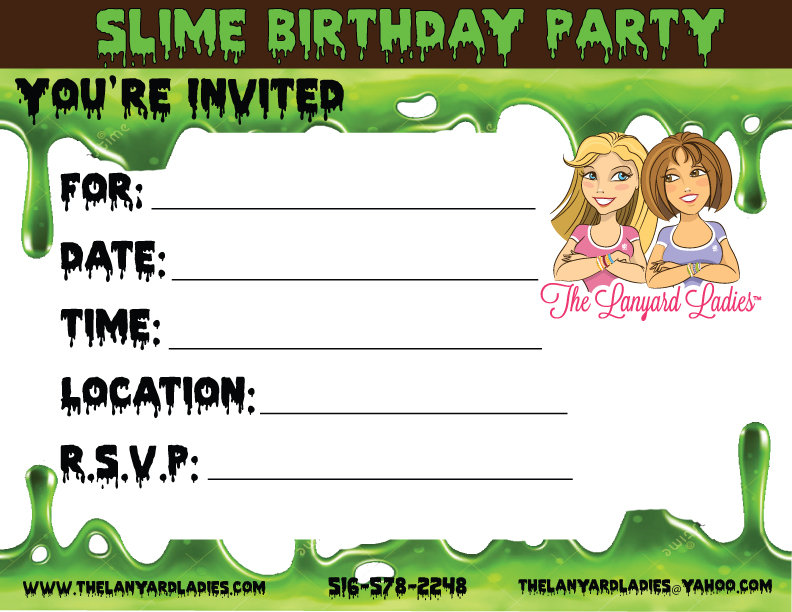 Slime Birthday Party Place Long Island