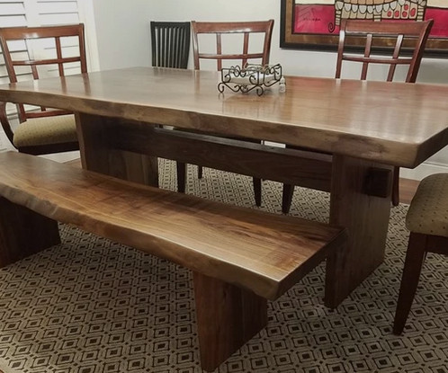 7 foot dining table pool live edge guanacaste foot dining table