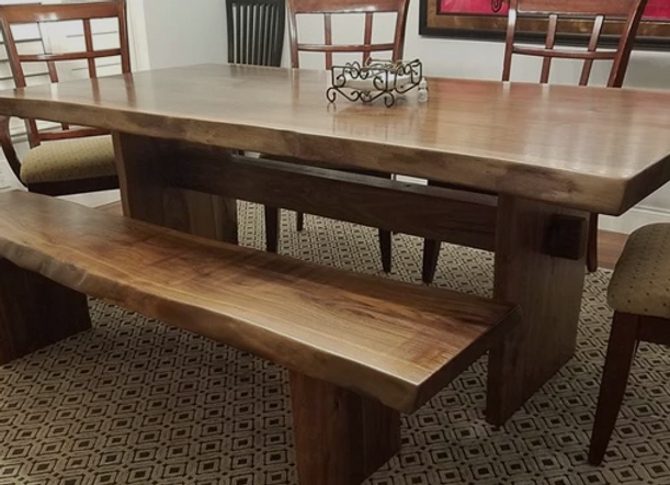 African Mahogany 10 Foot Dining Table Conference