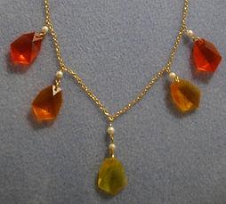 Lucite Sunrise Necklace