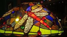 Spiral Dragonfly Lamp detail